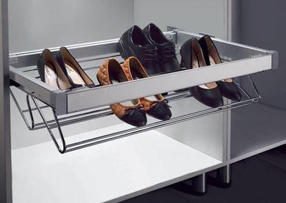 Obrázok pre výrobcu Výsuvný botník 685 x 427 x 145 mm chróm-hliník eloxovaný 2006014001