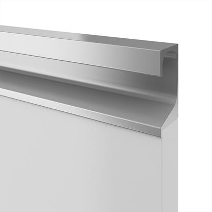 Obrázok pre výrobcu Madlo zafrézovateľné UKW-7 biela 9003 úchytka na mieru