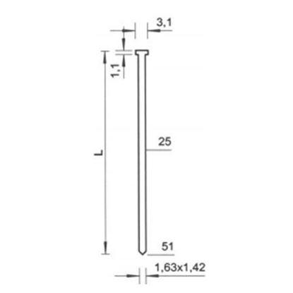 Obrázok pre výrobcu Klince BeA SK NK nastreľovacie 2 000 ks