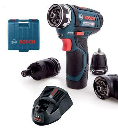 Obrázok pre výrobcu Bosch GSR 12V-15 FC Flex Professional aku. skrutkovač 1 x 2 Ah