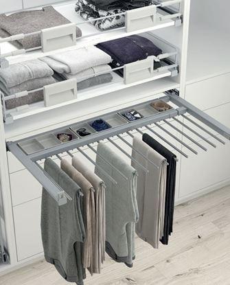 Obrázok pre výrobcu HETICH vešiak na nohavice 800-900 mm 42111014, 14 ramien