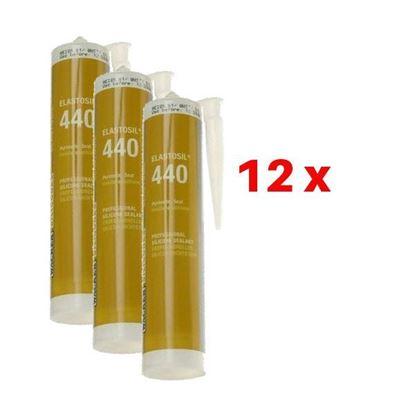 Obrázok pre výrobcu 12x Silikón neutrálny 310ml WACKER 440 transparent