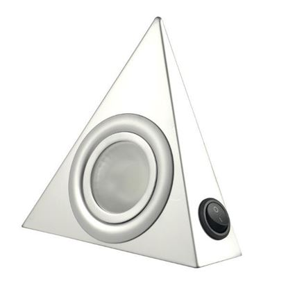 Obrázok pre výrobcu Bodové trojuholníkové svetlo s vypínačom, Hliník LPTW3
