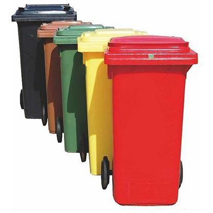 Obrázok pre výrobcu PROTECO nádoba na odpad 120 L rôzne farby