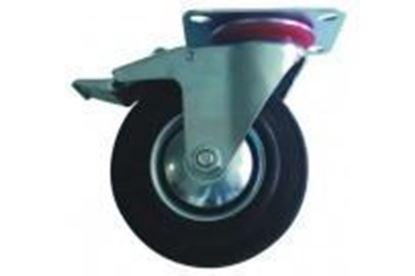 Obrázok pre výrobcu Koliesko otočné s platňou a brzdou 160 mm, nosnosť 100 kg