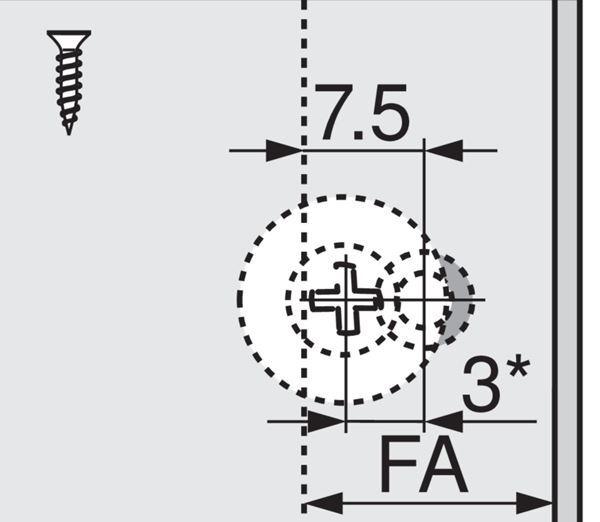 Remab - Blum 956A1004 / TIP-ON-Set pre dvierka, dlhý, s