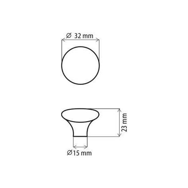 Obrázok DC DG20 MLK-4 úchytka porcelánová knopok