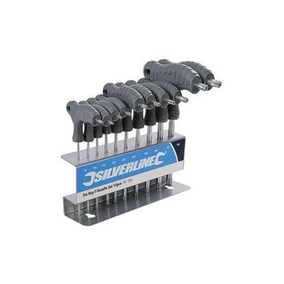 Obrázok pre výrobcu SILVERLINE sada torx klúčov 10 dl. T9 - T50 + stojan