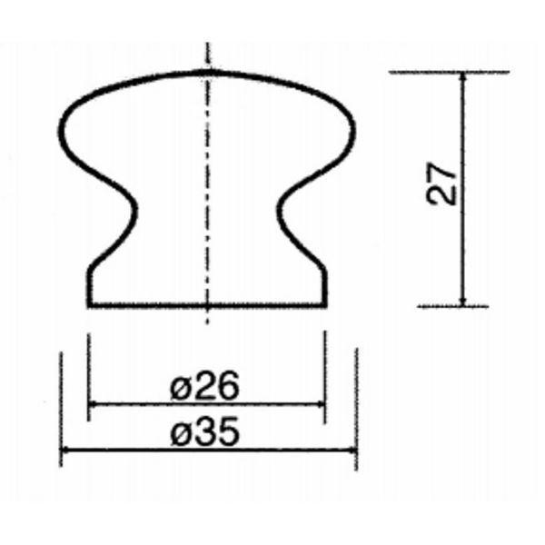 Obrázok Drevený knopok