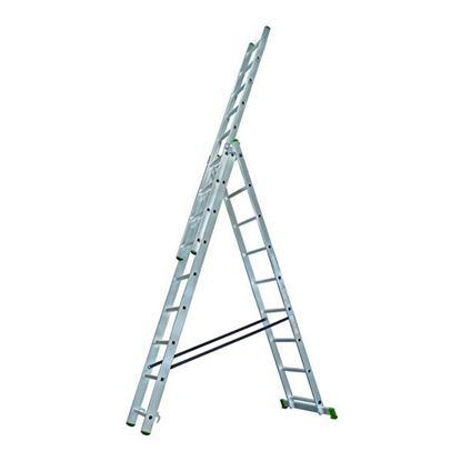 Obrázok pre výrobcu PROTECO rebrík univerzálny 3-dielny 3x7 - 195/310/420 cm 10.66-3-07-KR