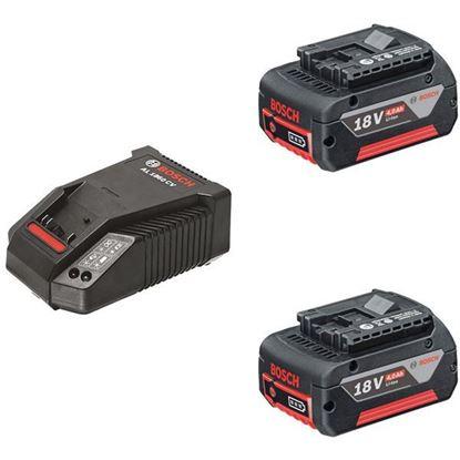 Obrázok pre výrobcu BOSCH sada aku. 2 x GBA 18V / 4,0 Ah + nabíjačka AL 1860 CV 1600A002F8