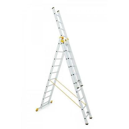 Obrázok pre výrobcu Rebrík FORTE trojdielny univerzálny 5,25 do 10,90 m 150kg