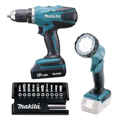 Obrázok pre výrobcu Makita DF457DWLX1 aku. skrutkovač s lampou a príslušenstvom