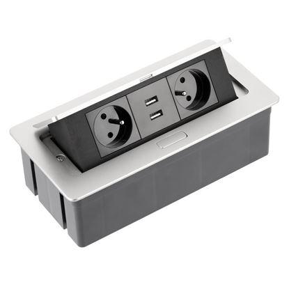 Obrázok pre výrobcu GTV zásuvka kancelárska 2 x 220 V + USB 5391