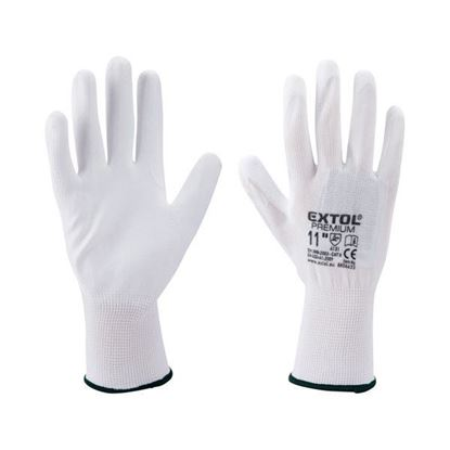 Obrázok pre výrobcu EXTOL rukavice polyester polomáčané v PU