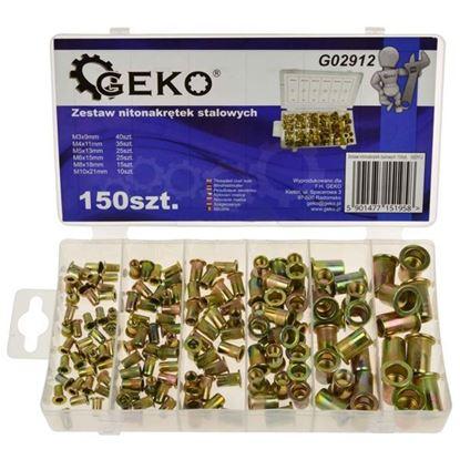Obrázok pre výrobcu GEKO Sada dutých oceľových nitov, 150-dielna G02912