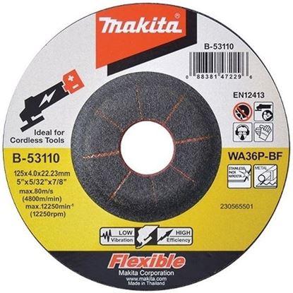 Obrázok pre výrobcu MAKITA B-53110 brúsny kotúč na oceľ 125 x 4 x 22 mm inox