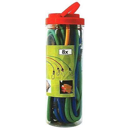 Obrázok pre výrobcu Upínacie gumy na batožinu TR-739, 40-100 cm sada 8 ks 217125