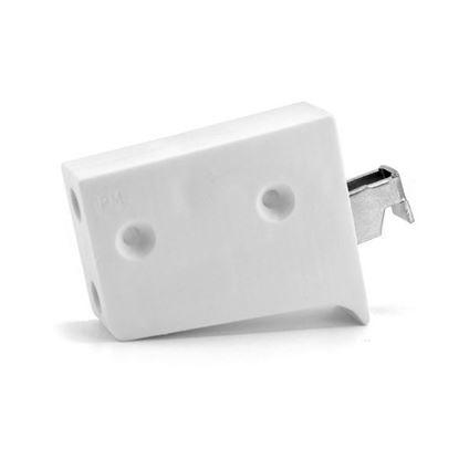 Obrázok pre výrobcu Rektifikačné kovanie biele 3D krátky hák /ZAW.UNI.BI.KR/ univerzal