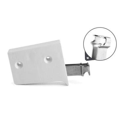 Obrázok pre výrobcu Rektifikačné kovanie biele 3D široký hák /ZAW.UNI.BI.SZER/ univerzal