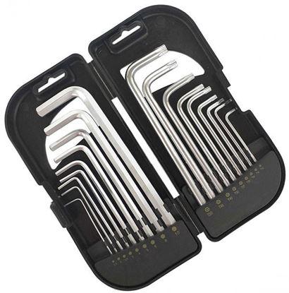 Obrázok pre výrobcu PRO-TECHNIK sada imbusových kľúčov 1,5-10, TORX-H 10-50, 18 dielna 2.KIS918
