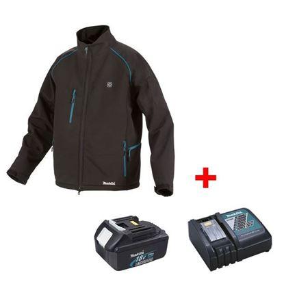 Obrázok pre výrobcu MAKITA DCJ205Z aku. bunda vyhrievaná + akumulátor a nabíjačka