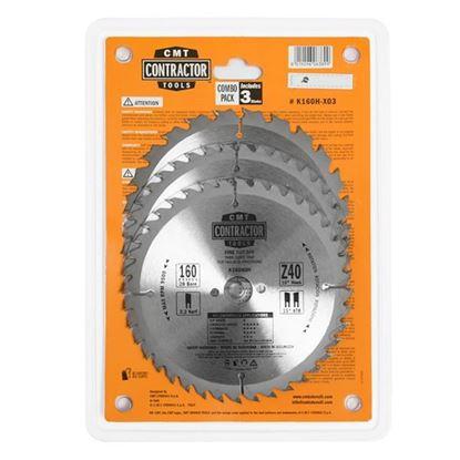 Obrázok pre výrobcu CMT Sada pílových kotúčov na drevo 160 x 20 mm, Z24+Z40 HW, 3ks C-K160H-X03