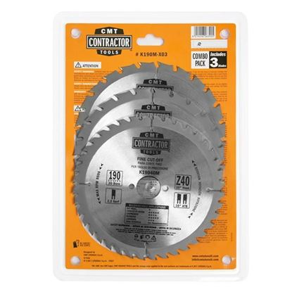 Obrázok pre výrobcu CMT Sada pílových kotúčov na drevo 190 x 30 mm, Z24+Z40 HW, 3ks C-K190M-X03