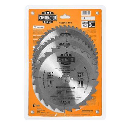 Obrázok pre výrobcu CMT Sada pílových kotúčov na drevo 216 x 30 mm, Z24+Z48 HW, 3ks C-K216M-X03