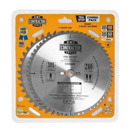 Obrázok pre výrobcu CMT Sada pílových kotúčov na drevo 305 x 30 mm, Z40+Z60 HW, 2ks C-K305M-X02