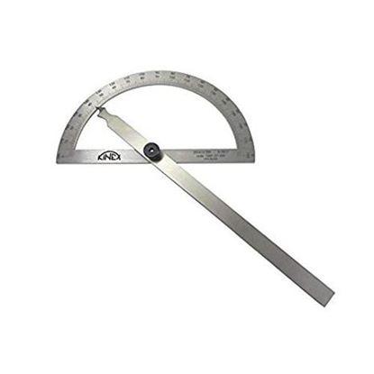 Obrázok pre výrobcu Oblúkový uhlomer KINEX nerezový 120/200mm 1089-07-200