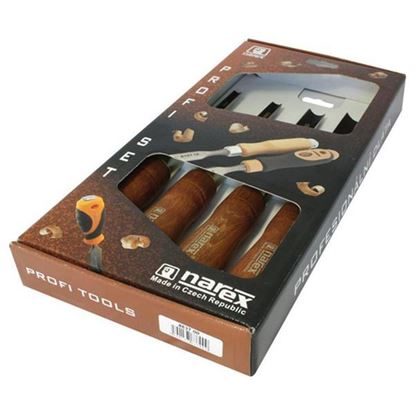 Obrázok pre výrobcu NAREX Sada dutých dlát s mahagónovou drevenou rukoväťou 8637-00