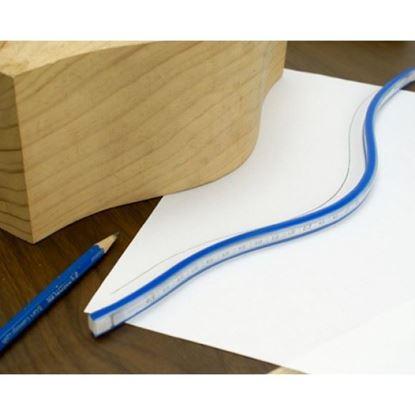 Obrázok pre výrobcu FACHMANN Ohybné pravítko 90cm pre kreslenie kriviek MOP090