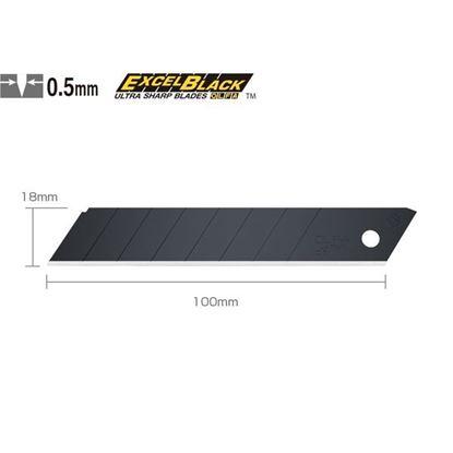 Obrázok pre výrobcu GEBOL náhradná čepeľ 10 ks, 18 mm, OLFA EXCEL BLACK LBB-10B 857231