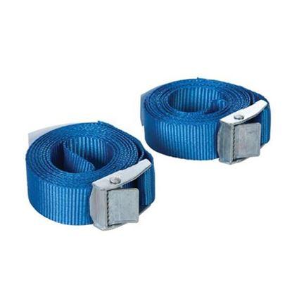 Obrázok pre výrobcu SILVERLINE 449682 upínacie pásy so sponou na batožinu, sada 2ks / 2,5m x 25mm