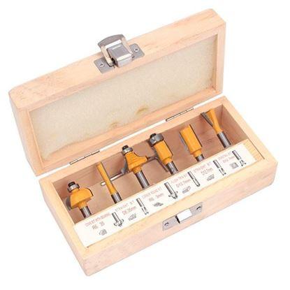 Obrázok pre výrobcu XL-TOOLS Sada stopkových fréz do dreva 6-dielna, upínacia stopka 6 mm 2.FR6