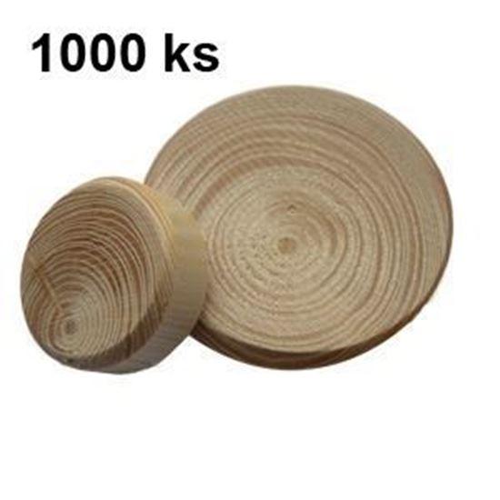 Obrázok Drevená hrča smreková rôzny priemer balenie 1000ks