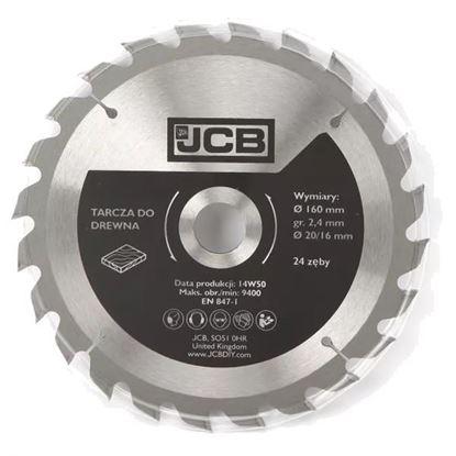 Obrázok pre výrobcu JCB pílový kotúč do dreva 160 mm, 24 zubov