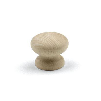 Obrázok pre výrobcu TULIP Knopok Adam buk surový+skrutka 158704