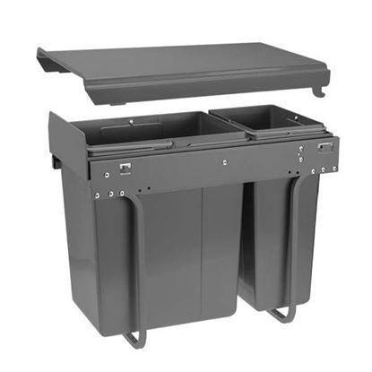 Obrázok pre výrobcu GTV 300 odpadkový kôš plnovýsuv 20L+10L antracit 5550