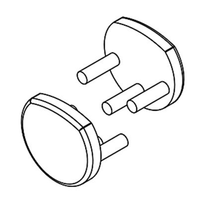 Obrázok pre výrobcu Koncovky na LED lištu PEN8 sivá P+Ľ 86490022