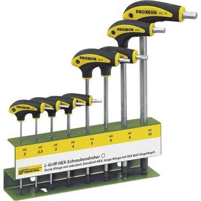 Obrázok pre výrobcu PROXXON sada imbus. kľúčov s T-rukoväťou 22650, 2-10 mm, 8-dielna