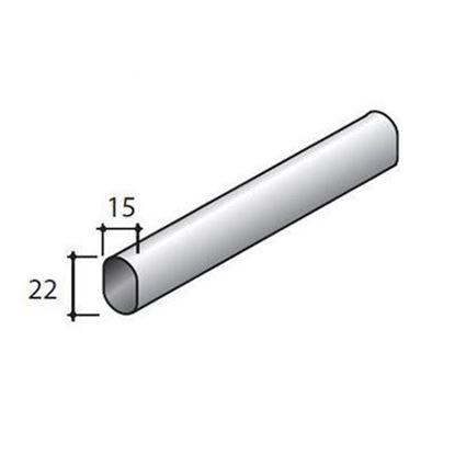 Obrázok pre výrobcu STRONG tyč šatníková oválna 15x22x3000 mm TA01 15500