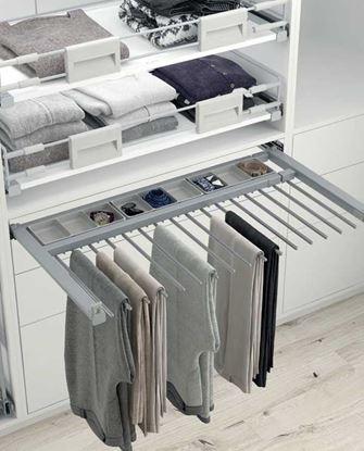 Obrázok pre výrobcu HETICH vešiak na nohavice 600-700 42088014, 10 ramien