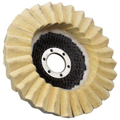 Obrázok pre výrobcu GEKO Leštiaci kotúč lamelový filcový 125 x 22 mm, hrúbka filcu 7 mm G00386