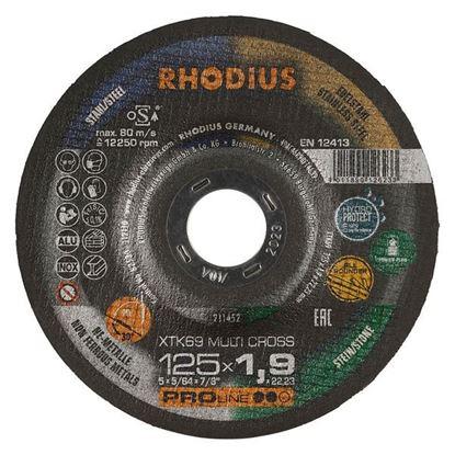 Obrázok pre výrobcu RHODIUS rezný kotúč XTK69 MULTI CROSS 125x1,9mm 2v1 211452