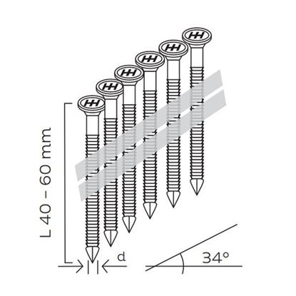 Obrázok pre výrobcu Klince KMR R34 NK GAS 1250ks