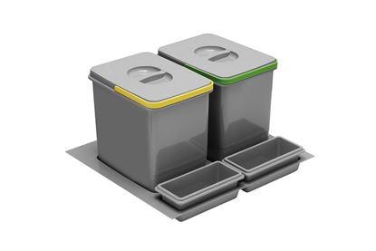 Obrázok pre výrobcu MULTINO odpadkový koš 600 - 2x16L 5570-10 ANTRACIT