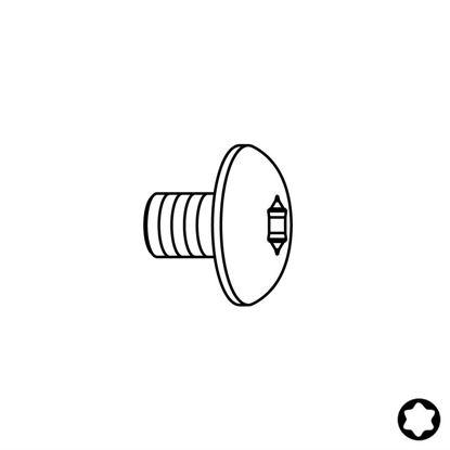 Obrázok pre výrobcu Skrutka - Typ:12 M4x6 D9 Torx 15 F099-14000