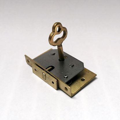 Obrázok pre výrobcu Zámok na šperkovnicu s klúčom, zlatý /MAX-zaka/
